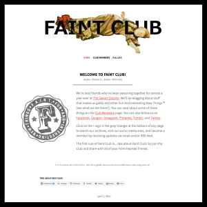 Welcome to Faint Club