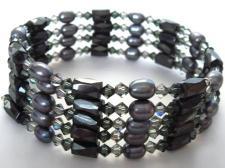 black-pearl-and-swarovski-crystal-magnetic-wrap-bracelet